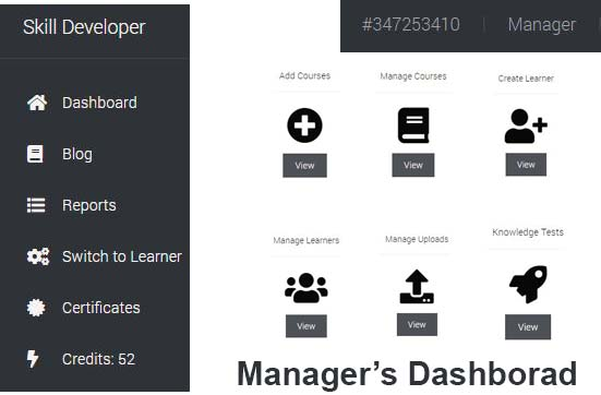 Manager's dashboard
